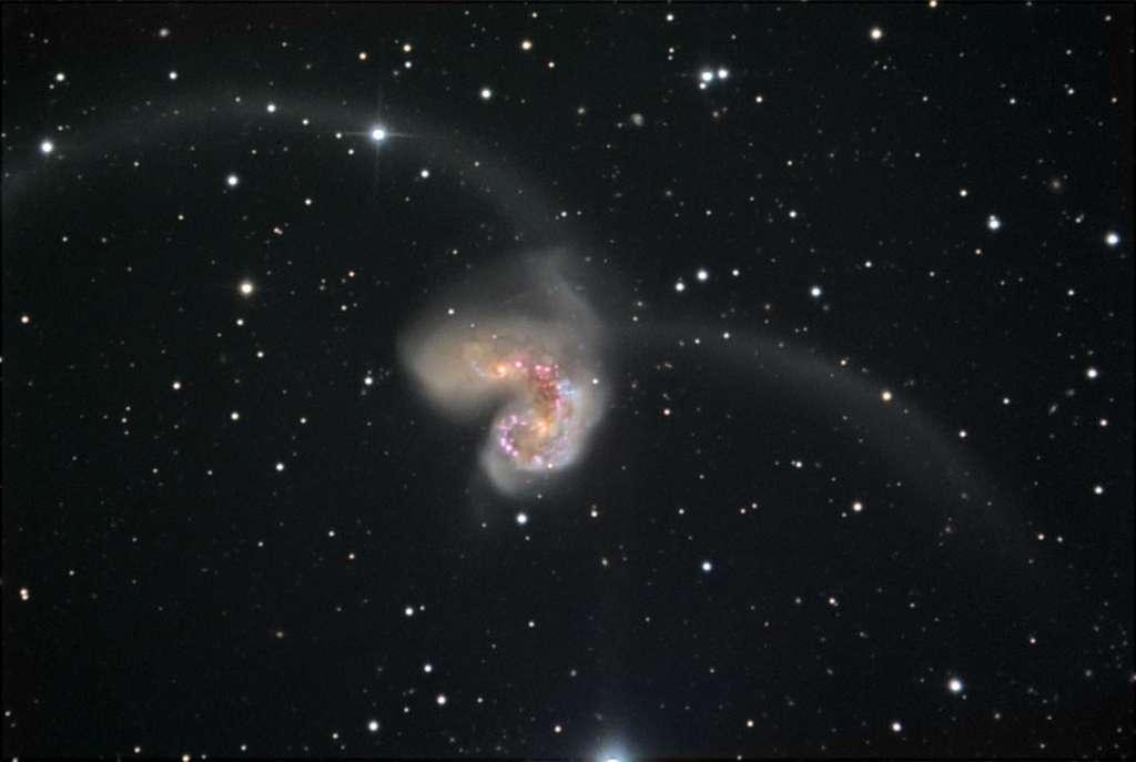 Les Antennes, un bel exemple de deux galaxies spirales qui sont entrées en collision dans la constellation du Corbeau. © Noao/Aura/NSF/B. Twardy/B. Twardy/A. Block