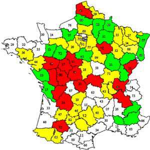 Carte France - Turalémie http://www.microbes-edu.org