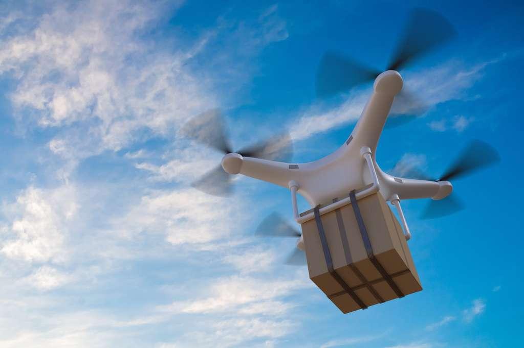 De grandes marques de distribution testent la livraison de colis par drone. © vchalup, fotolia