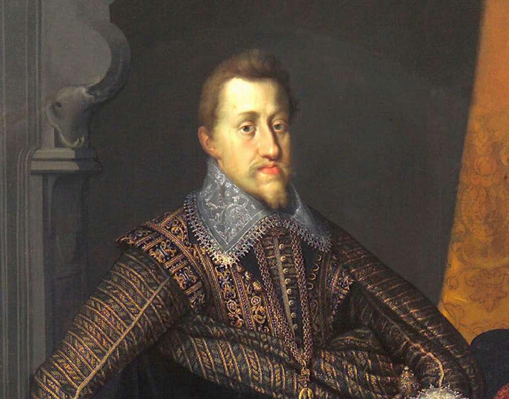 Portrait (détail) de l'empereur germanique Ferdinand II de Habsbourg, par Joseph Heintz en 1604. Musée d'Histoire de l'Art, Vienne, Autriche. © Wikimedia Commons, domaine public