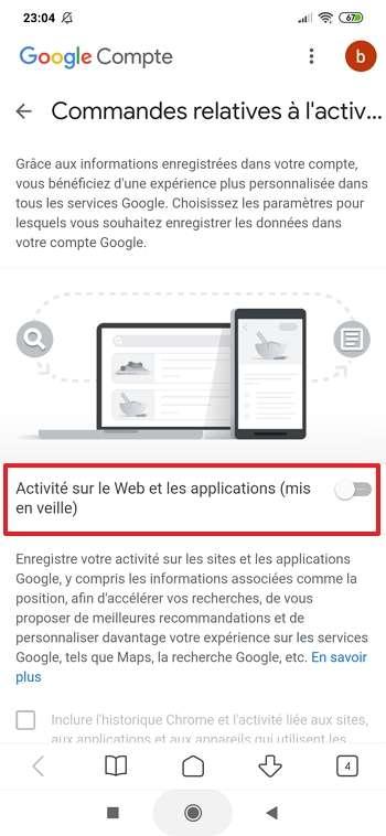 Appuyez sur le curseur. © Google Inc.