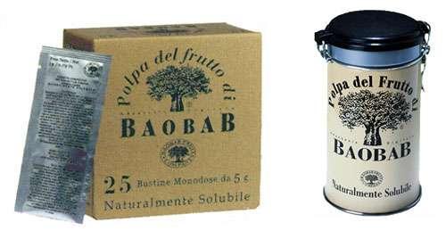Pulpe de baobab vendue en Italie. © Baobab Fruit Compagny Reproduction et utilisation interdites