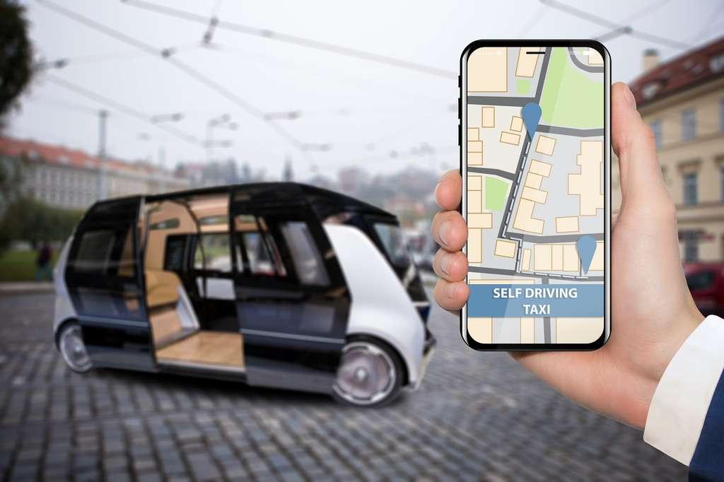 Les taxis autonomes sont déjà une réalité aux Etats-Unis et devraient se développer dans les prochaines années, d'abord sur routes privées. © scharfsinn86, Adobe Stock.