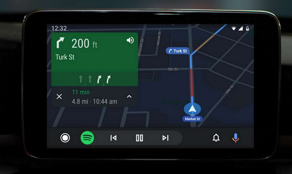 La nouvelle interface d'Android Auto. © Google