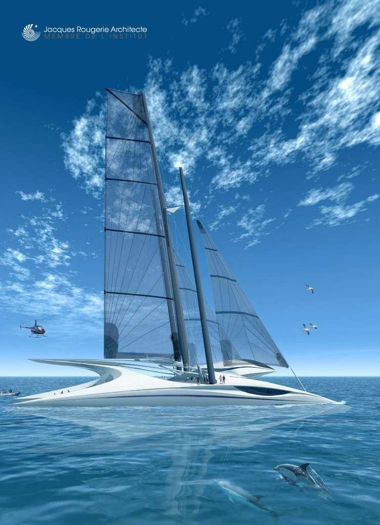 L'Aquaspace III, le voilier à hublots sous l'eau