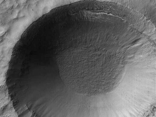 Vue d'un cratère glacé