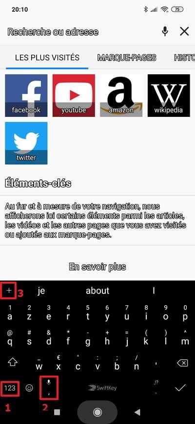 L'interface de Swiftkey ressemble à cela par défaut. © Microsoft