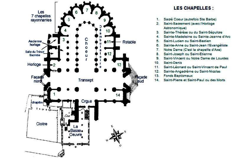 Plan de la cathédrale de Beauvais. © DR
