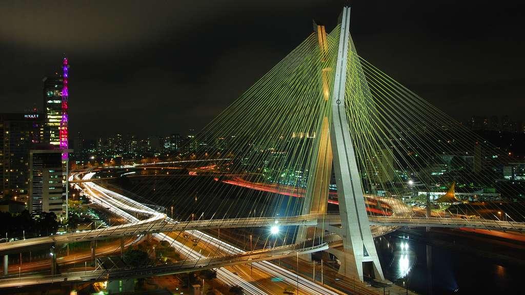 Le pont Octávio Frias de Oliveira et ses haubans