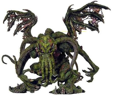 Représentation de Cthulhu, la divinité pieuvre chère à H. P. Lovecraft. © DR