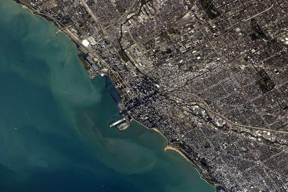 Chicago vue depuis l'ISS