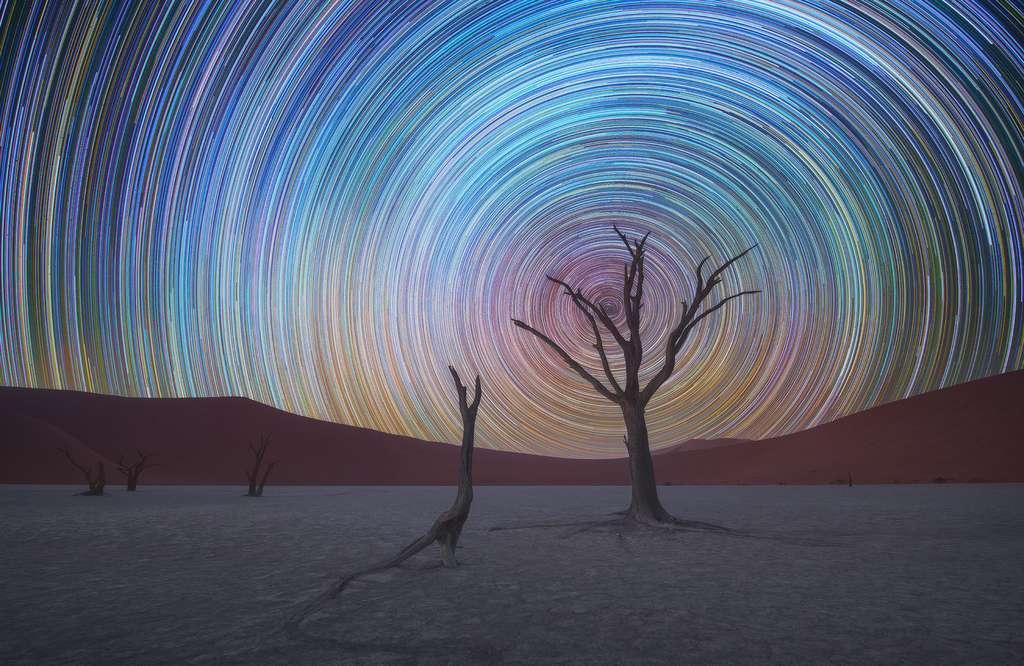 Le magnifique ciel étoilé du Deadvlei