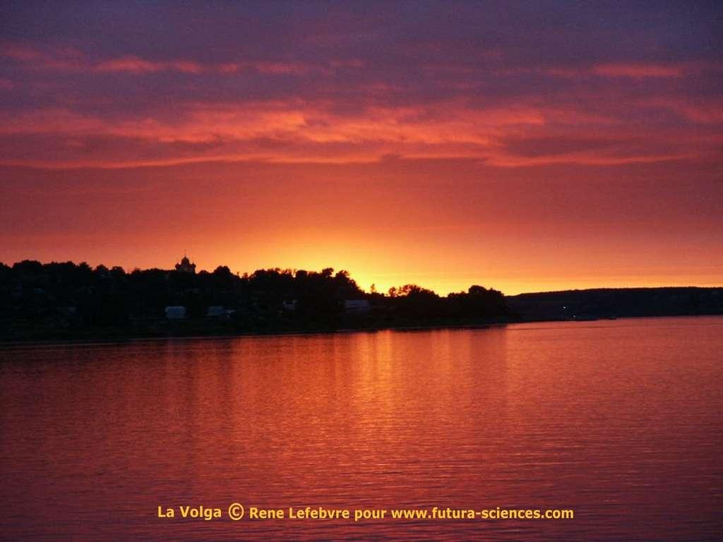 Soleil sur un lac