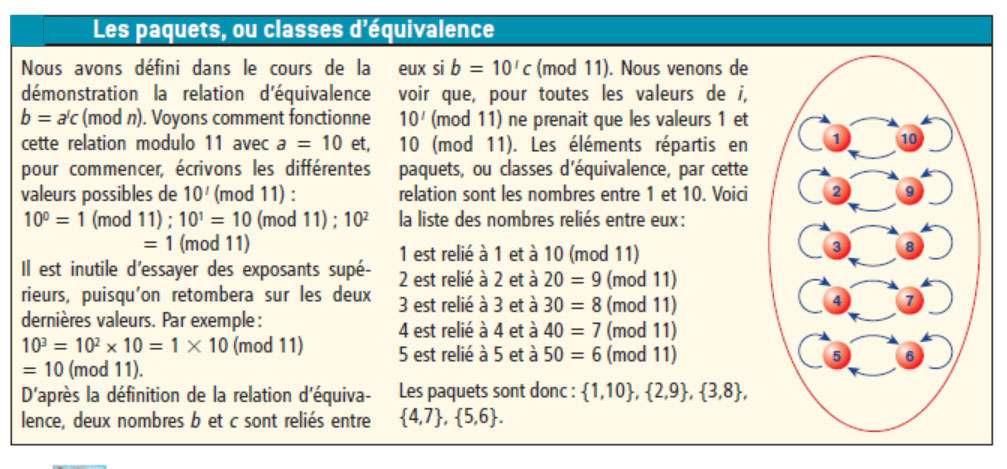 Une explication sur ce que sont les paquets, aussi appelés classes d'équivalence. © Belin