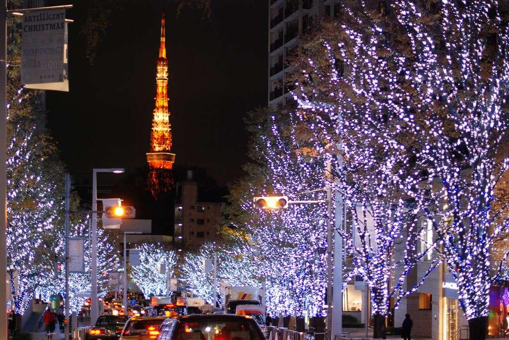 Noël dans les rues de Tokyo