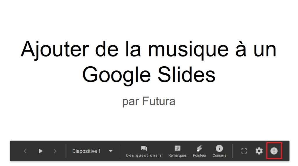 Mettez le curseur sur l'icône en forme de point d'exclamation. © Google Inc.