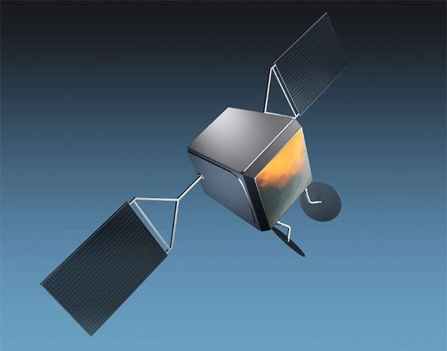 Les satellites de la constellation OneWeb pèseront moins de 150 kg. Pour respecter le calendrier, il faudra en construire plusieurs par jour. © Airbus DS
