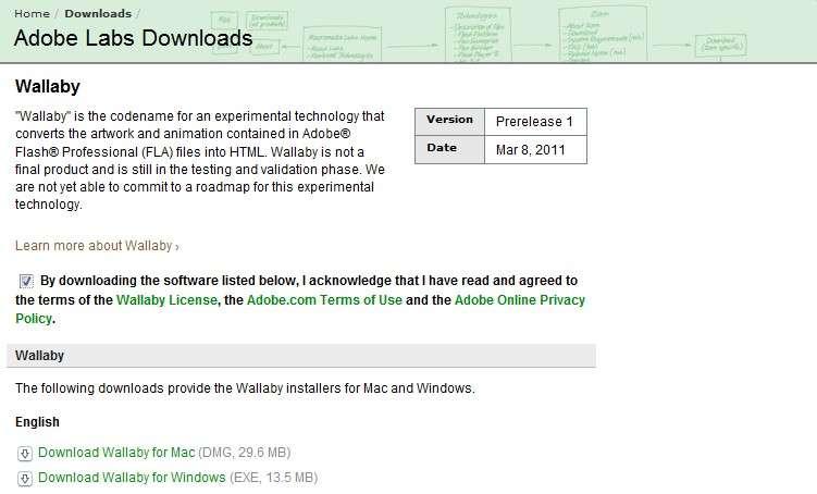 Adobe propose gratuitement une version 32 bits de son logiciel pour environnements Mac OS et Windows. © Adobe