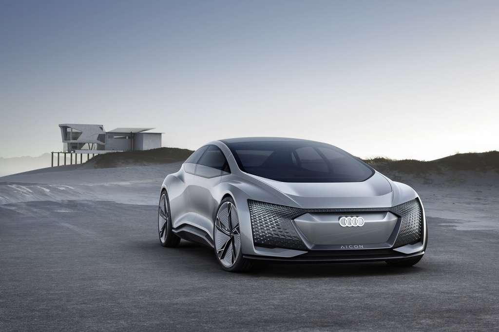 L'Audi Aicon suggère le design intérieur et extérieur que l'on retrouvera par petites touches sur les modèles des prochaines décennies. © Audi AG