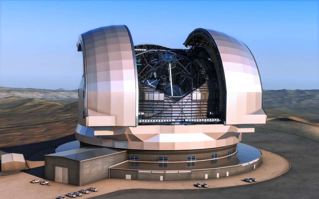 L'ELT, prévu pour 2024, disposera d'une caméra infrarouge d'une très grande précision. © ESO, L. Calçada