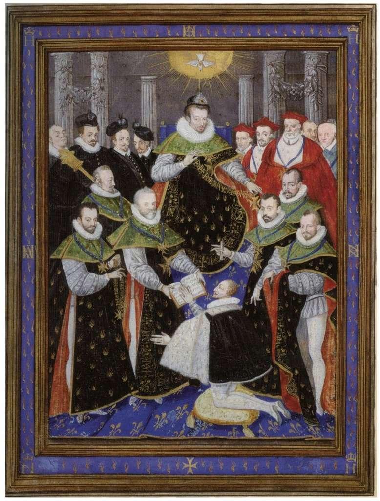 Henri III présidant la première cérémonie de l'ordre du Saint-Esprit, par Guillaume Richardière en 1586. Musée Condé, Chantilly. © Wikimedia Commons, domaine public