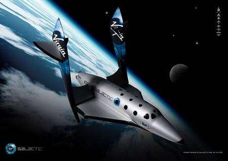 SpaceShipTwo en phase de rentrée. Crédit : Virgin Galactic