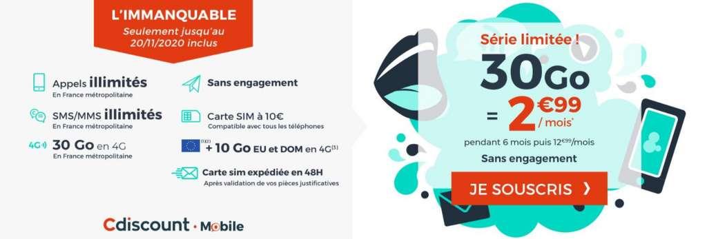 Promo 30Go © Cdiscount Mobile