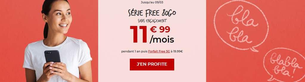 80Go à seulement 11.99€ / mois © Free Mobile