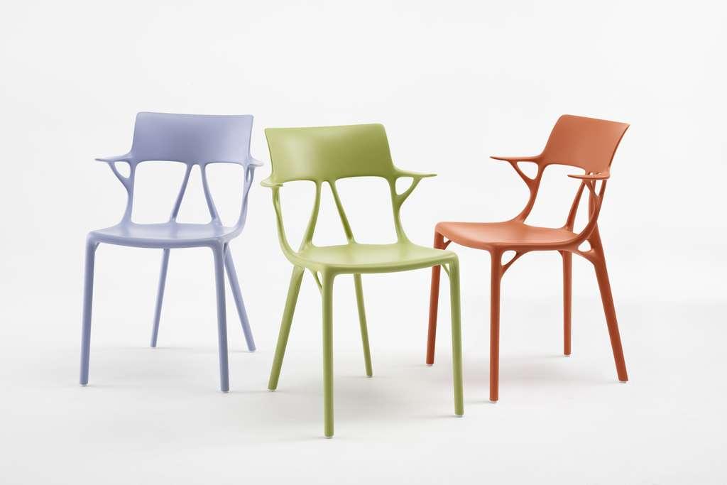 La chaise AI de Philippe Starck a été conçue de manière à minimiser la quantité de matériau et assurer sa solidité. © Philippe Starck