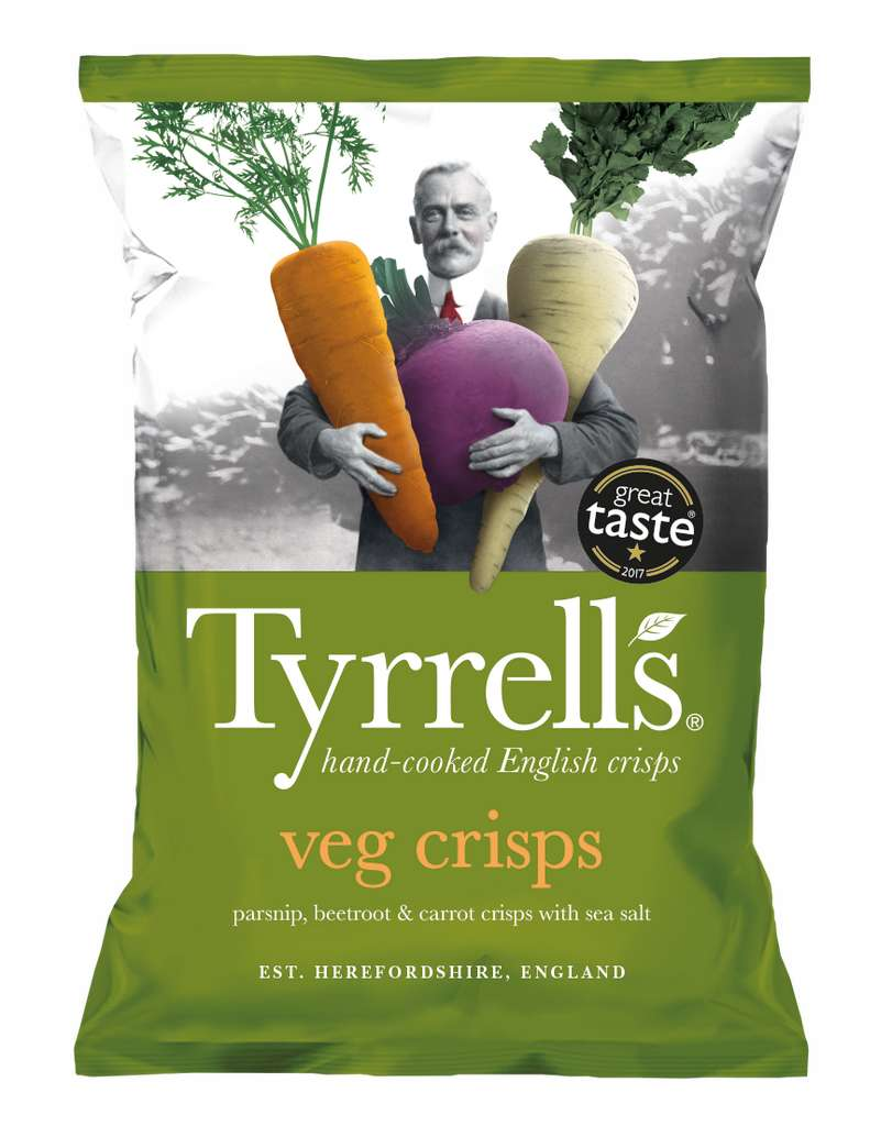 Les chips de légumes sont bien pires que les chips à la pomme de terre nature. © Tyrrell's