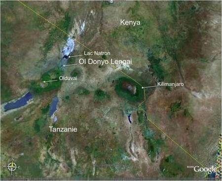 Figure 2. La localisation de l'Ol Doinyo Lengaï. Crédit : INSU