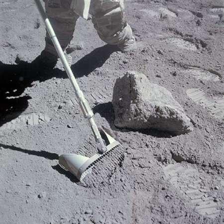 Une image du sol lunaire lors d'une mission Apollo. © Nasa