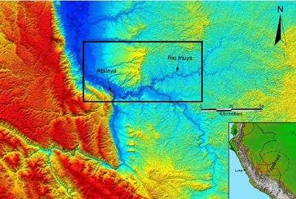 Localisation de l'aire de prospection de l'expédition Fitzcarrald 2005. © IRD