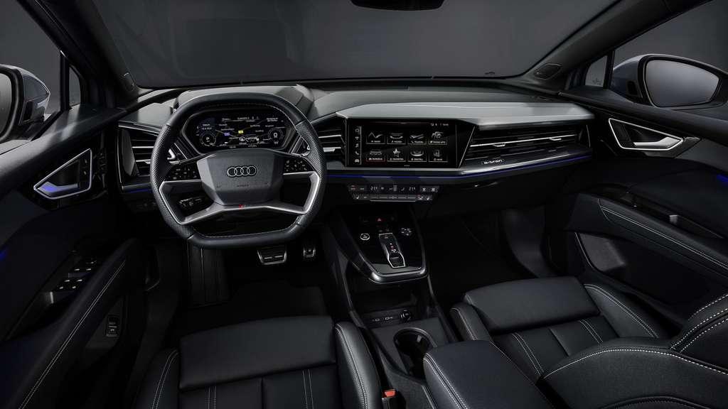 L'intérieur de l'Audi Q4 e-tron. © Audi