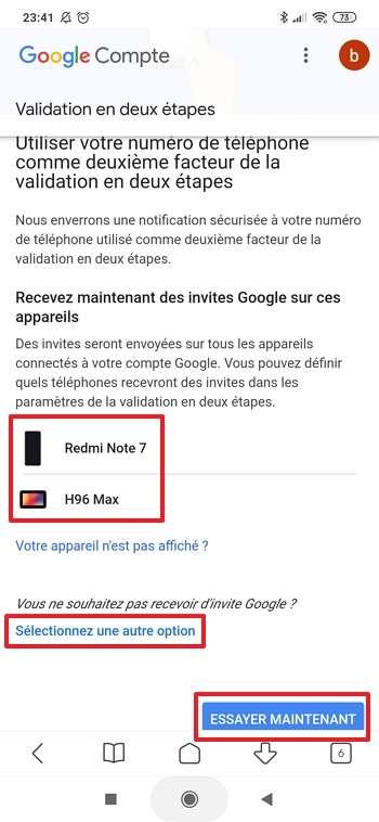 Une invite vous sera envoyée chaque fois que vous souhaitez vous connecter un service Google. © Google Inc.