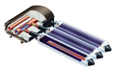 La technologie des tubes sous vide est plutôt adaptée aux régions froides comme l'Allemagne ou l'Autriche. On trouve néanmoins ce type de capteurs à des prix de plus en plus raisonnables en France. © Viessmann - Tous droits réservés