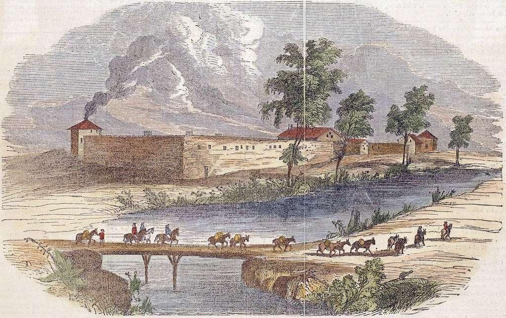 Une gravure de Fort Sutter. © Gleason's Pictorial Drawing Room Companion - Domaine public