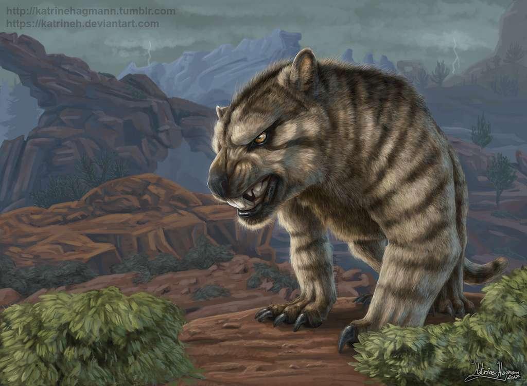 Thylacoleo carnifex vivait il y a plus de 40.000 ans. © Katrine Hagmann, DeviantArt