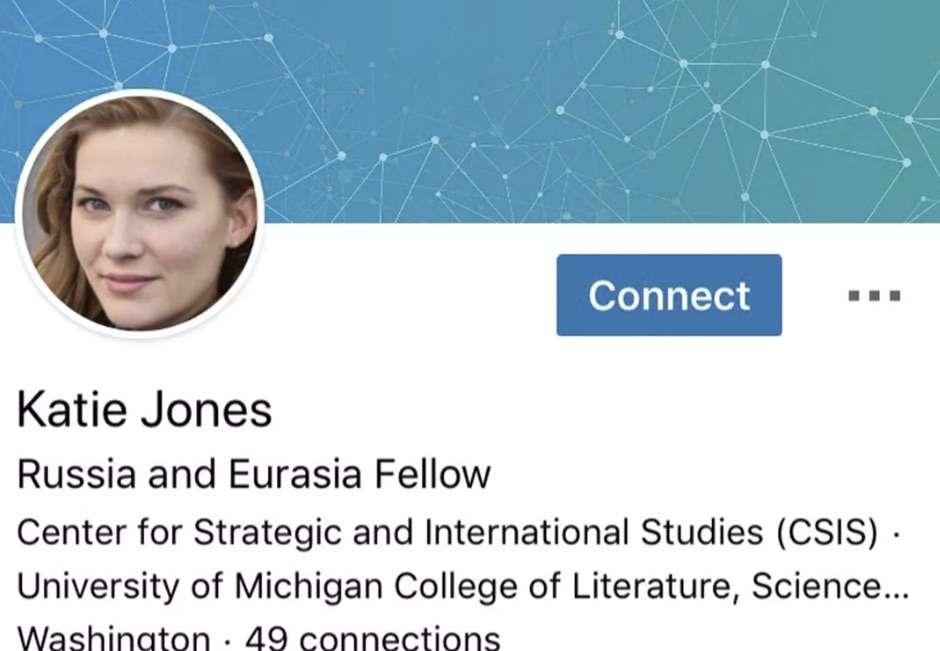 Ce profil d'utilisateur a été créé par l'intelligence artificielle, et cette Katie Jones n'a jamais existé, ni étudié à Michigan. Même son visage est une invention. © AP
