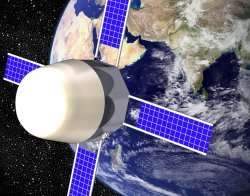 Vue d'artiste biosatellite, crédits: MarsGravity.org