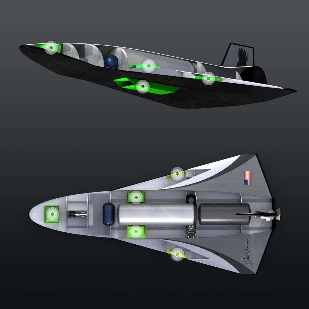 Études de conception du véhicule hypersonique Talon-A de Stratolaunch. © Stratolaunch