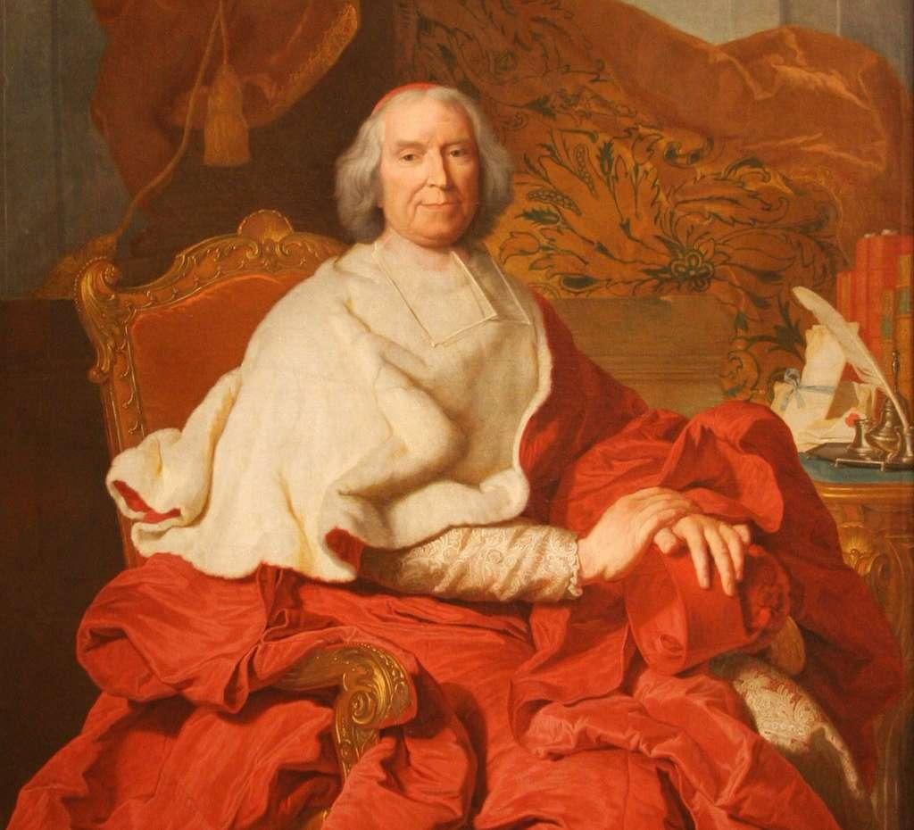 Portrait du cardinal de Fleury par Hyacinthe Rigaud, vers 1730. Nationalmuseum, Stockholm, Suède. © Nationalmuseum, Wikimedia Commons, domaine public