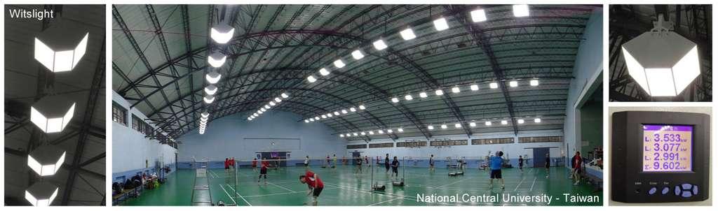 Éclairage sportif à Led. Les Led s'adaptent particulièrement bien aux vastes salles de sport, car leur durée de vie très longue évite d'importants frais de remplacement. © Led Engineering Development