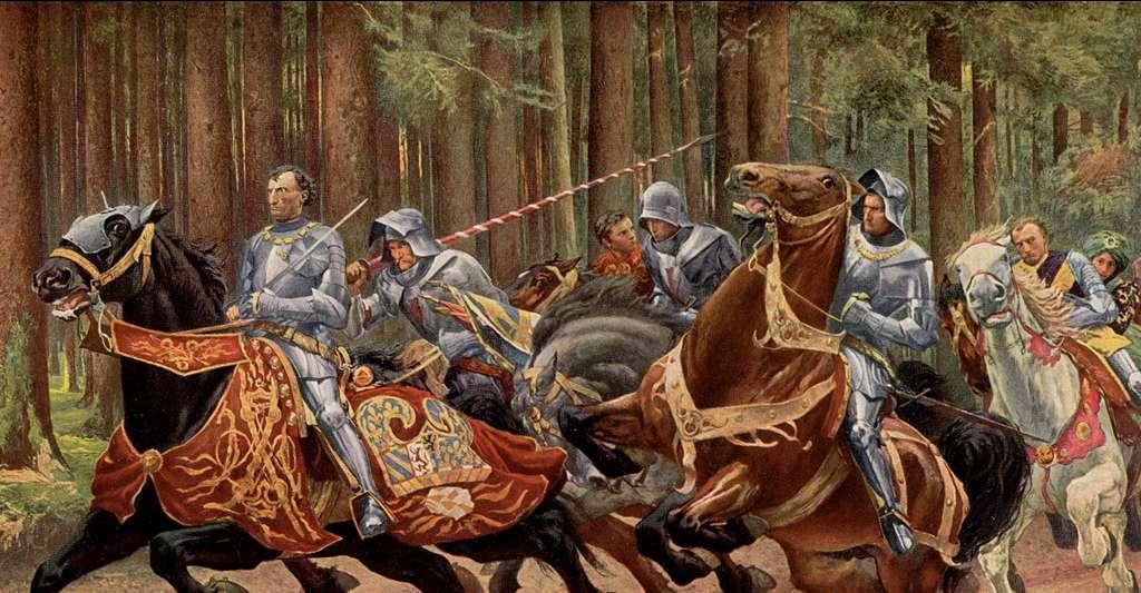 La fuite de Charles le Téméraire à la bataille de Grandson, en 1476. © Eugène Burnand (1850-1921), Wikimedia Commons, DP