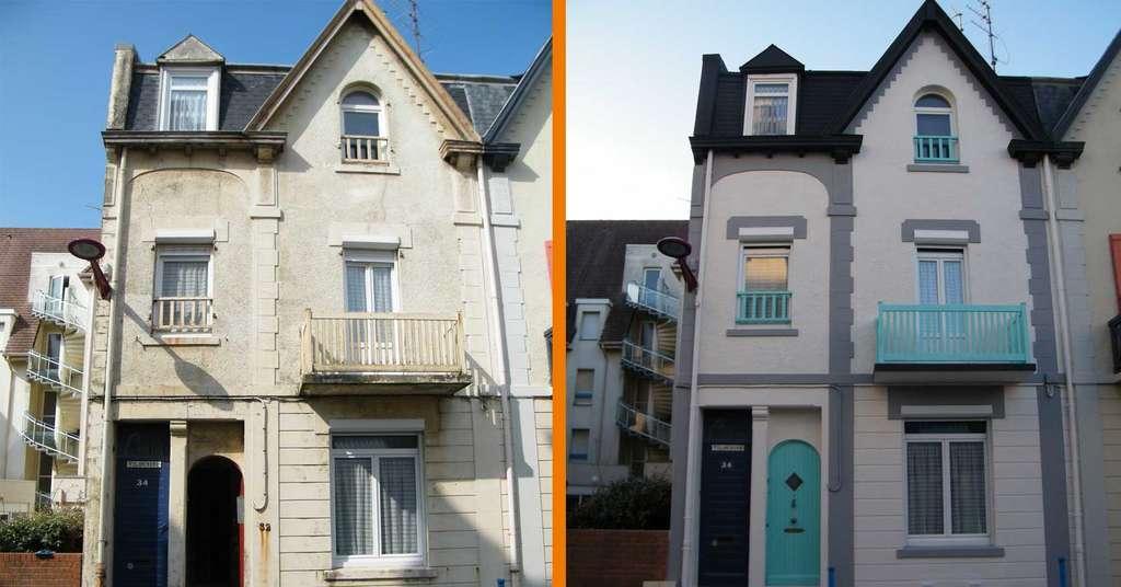 La large palette de couleur de la peinture Thermacote permet de rénover et de protéger les anciennes façades et toitures selon les envies de chacun, et dans le respect du code de l'urbanisme de la commune (PLU, PLUi). © Thermacote