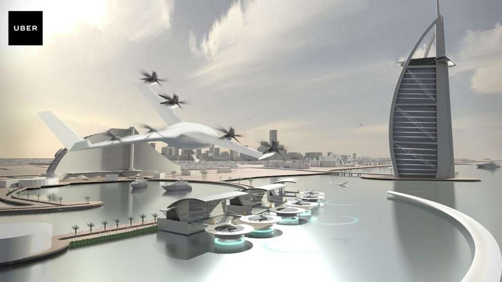 Le projet de drone taxi UberAir. © Uber