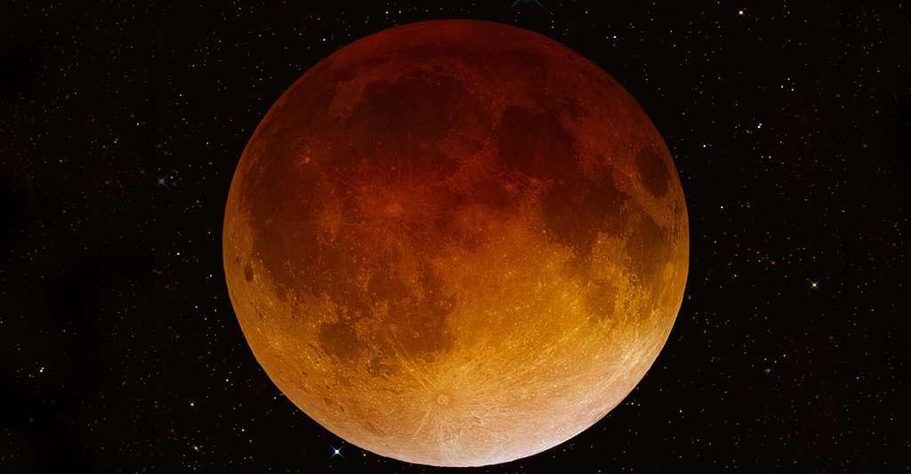 Lune rousse lors de l'éclipse lunaire du 15 avril 2014. © Robert Jay GaBany - CC BY-SA 3.0