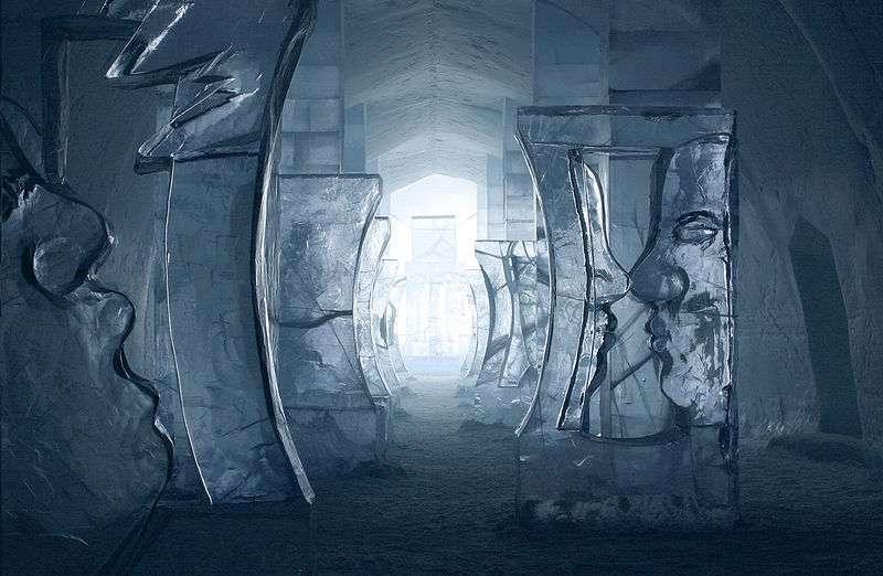 Sculptures sur glace à Jukkasjärvi, en Suède