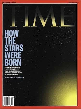 Comment les étoiles sont nées. La Une du Time du 27 août 2006.