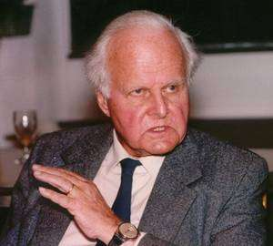 Carl Friedrich von Weizsäcker en 1993 (Crédit: Ian Howard).